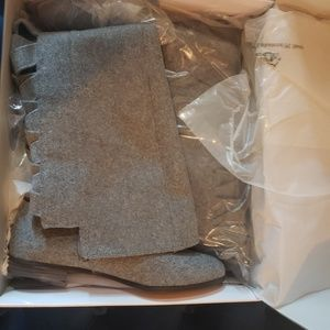 Nine West Shoes - Brand new Nine West Gray wool over knee boots
